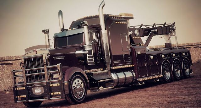 Cars Tuning Music: Kenworth W900L Heavy Towtruck