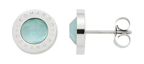 Leonardo-Jewels-Damen-Ohrstecker-Matrix-Edelstahl-Glas