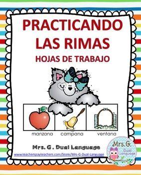 Spanish Rhyming. RimasHojas de trabajo para practicar el concepto de rimas.Spanish rhyming worksheets.You may also like:Tarjetas de rimasSpanish Rhyming Clip CardsRompecabezas de rimas