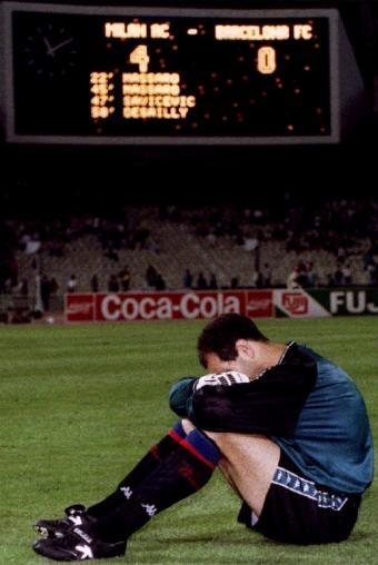 Final Copa de Europa 1994, AC Milan 4-0 FC Barcelona  Una derrota muy dura.El final del Dream Team de Cruyff