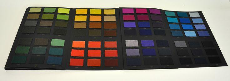 Cartella colori gammatura colore textile tessile