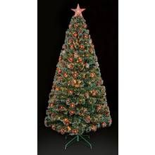 Premier Decorations 4ft Red LED Snow Tip Tree & Star – Green