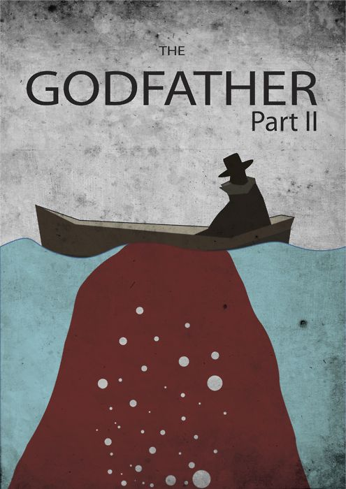 The Godfather: Part II (1974) ~ Minimal Movie Poster by Kenzo Giunto