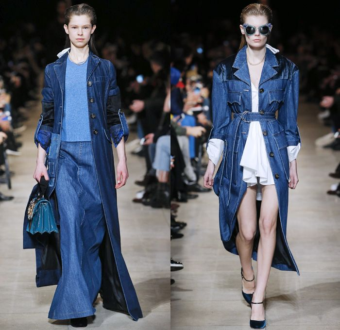 Paris Winter Fashion: 49 Best Denim 2016-2017 Fall Winter Paris Fashion Week