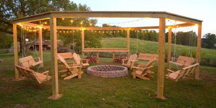 Diese DIY Pergola ist der ultimative Sommer-Hang-Spot! Dieses Paar erstellte es in einem Wochenende! Auch etwas für Sie? - DIY Bastelideen