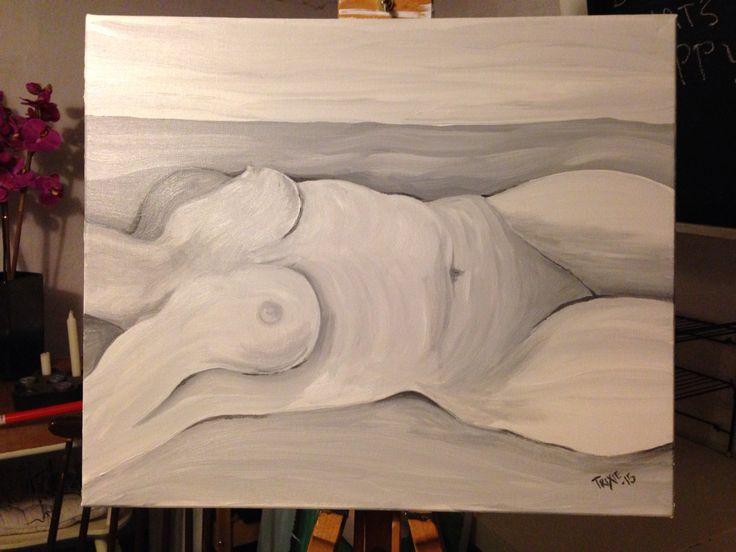 akryl på canvas