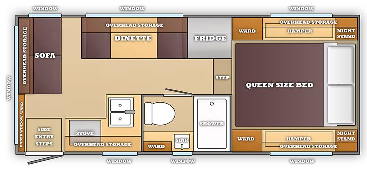 Small Camper With Slide Out >> A Dream Camper Floor Plan | Camper flooring, Truck bed ...