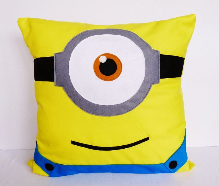 Despicable Me Minion oneeyed cushion COVER  16x16 by AdreneSews, $26,00