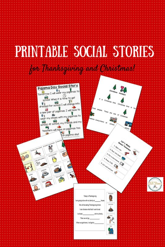 Printable social stories for Christmas and Thanksgiving. Repinned by SOS Inc. Resources pinterest.com/sostherapy/.