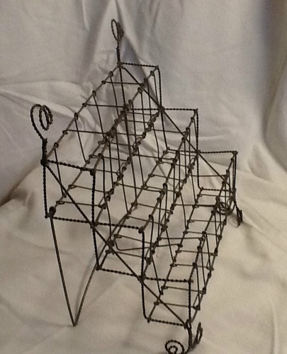 Early Antique Unique Twisted Wire Spice Rack Shelf Holder Unusual RARE Awesome   eBay