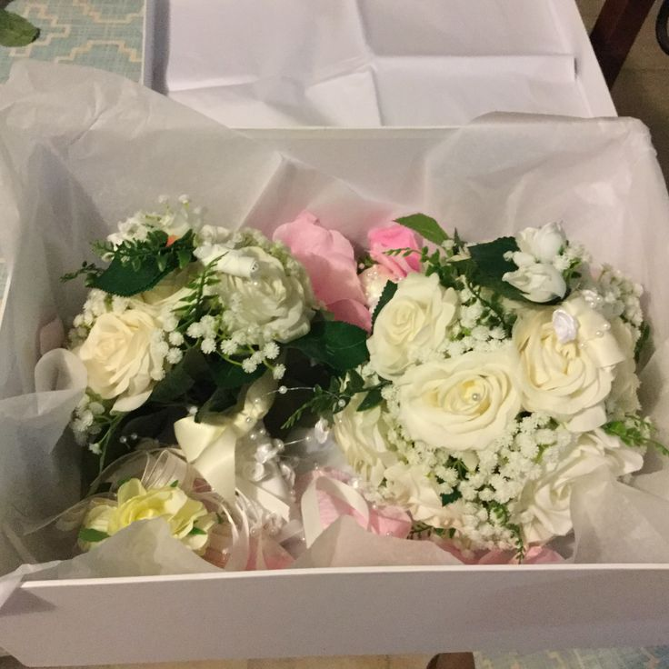 Excited to share the latest addition to my #etsy shop: Wedding bouquet set for roni ready to ship in a lovely box