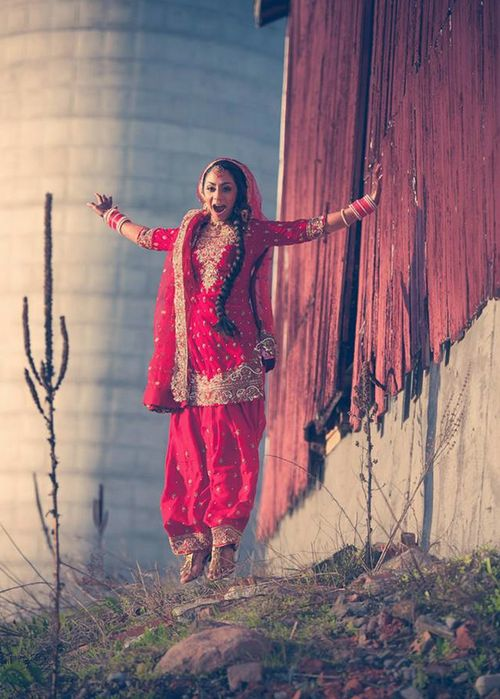 bridal red punjabi suit