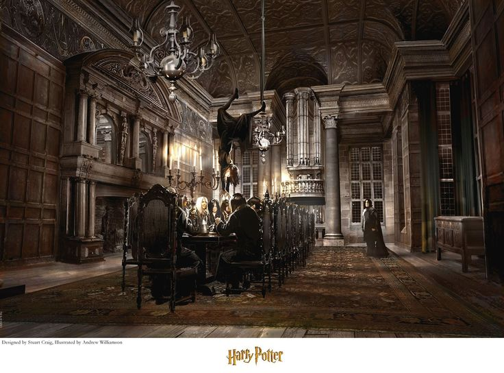 Harry Potter - Malfoy Manor - Stuart Craig - World-Wide-Art.com - #harrypotter #jkrowling #stuartcraig
