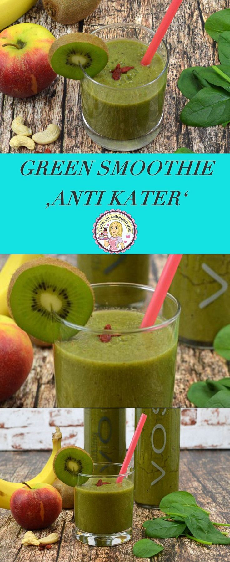 Green Smoothie Anti Kater, gesund, Rezept, lecker, Ernährung
