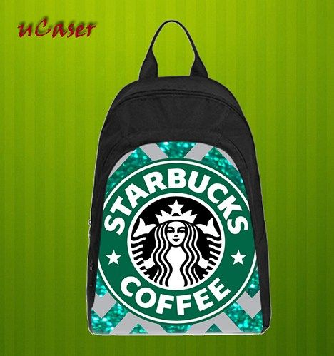 Starbucks Coffee Chevron Custom Casual school bag, Backpack