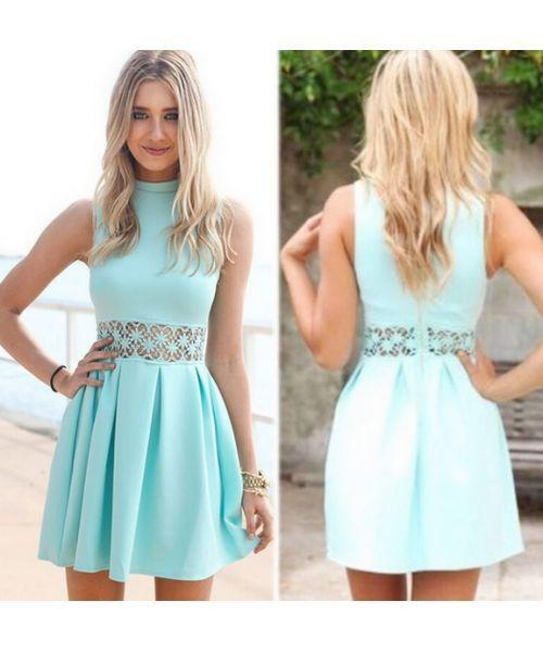 Картинки по запросу бирюзовое платье короткое | Платья ...