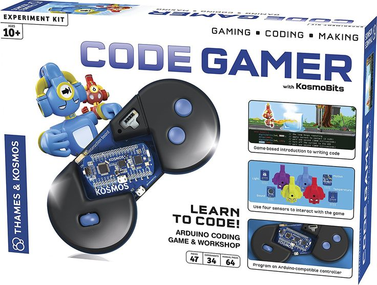 One of the toys of the year for 2017 is the Code Gamer Coding Workshop and Game from Thames & Kosmos. Learn how all about game programming step by step