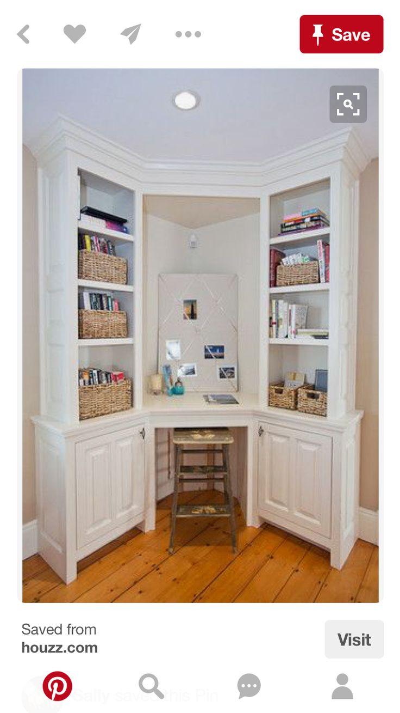 25 beste idee n over kleine hoekbureau op pinterest klein slaapkamer kantoor bureau hoekje for Home office ideeen