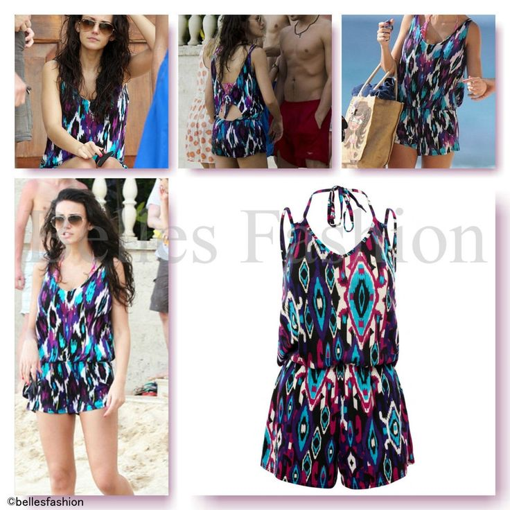 Aztec Playsuit Jumpsuit Cover Up Beach/Pool/Holiday All in One UK 8|10|12|14 NEW