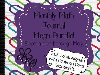 Save $$ by purchasing this Mega Bundle has all my Math Journal Labels from September through May!Math journals are a great way to quickly review and reinforce math concepts that your students have been learning. Incorporating this daily activity into your day is a simple, quick way to assess your students' knowledge of the standards you are working on.