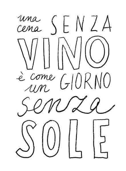Una cena sin vino es como un día sin sol