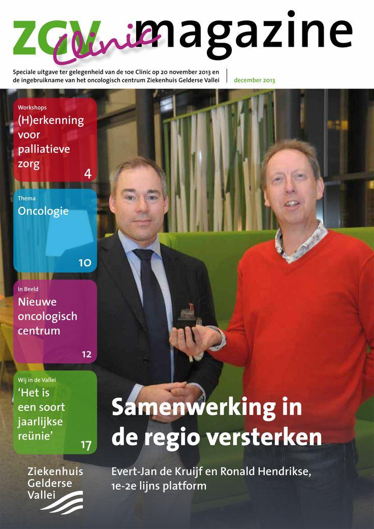 Afgelopen maand heeft Ziekenhuis Gelderse Vallei voor de tiende keer een Clinic georganiseerd. In de lijn van het maadelijkse ZGV Magazine hebben we samen een Clinic special van 20 pagina's gerealiseerd.