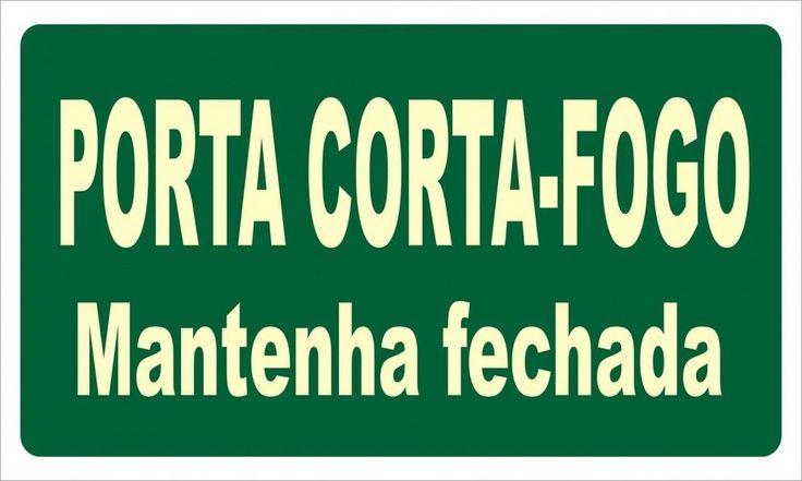 Placa Fotoluminescente para Porta Corta Fogo ST-20_Cód._42720. 48865