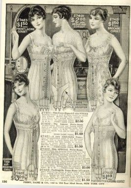 1916 Catalog Image Of Corsets