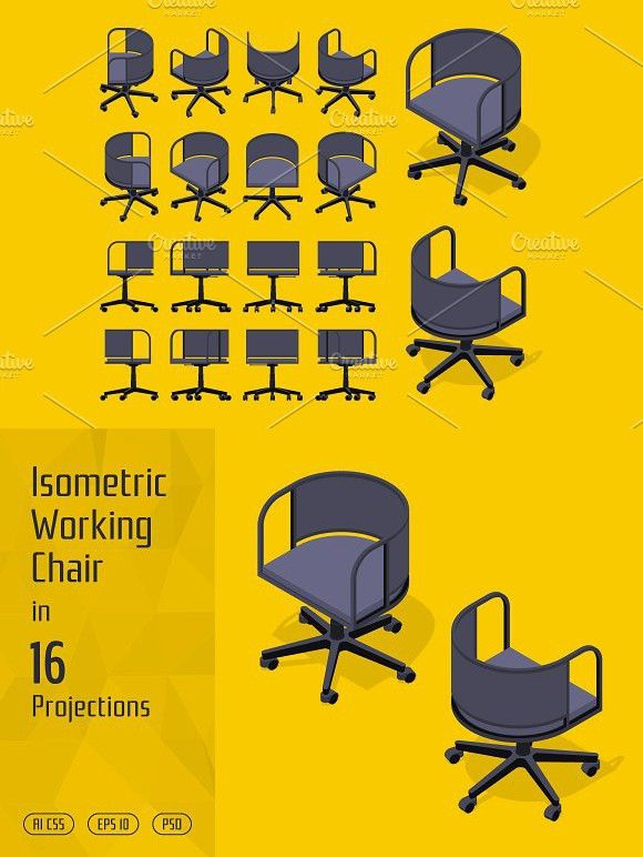 Isometric Working Chair With Images Isometric Infographic