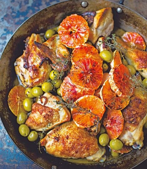 Chicken-with-marsala,-olives-and-blood-oranges-