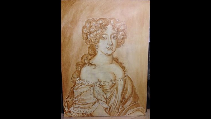 Step by step demonstration / Step 2 / Umber underlayer / Flemish paintin...