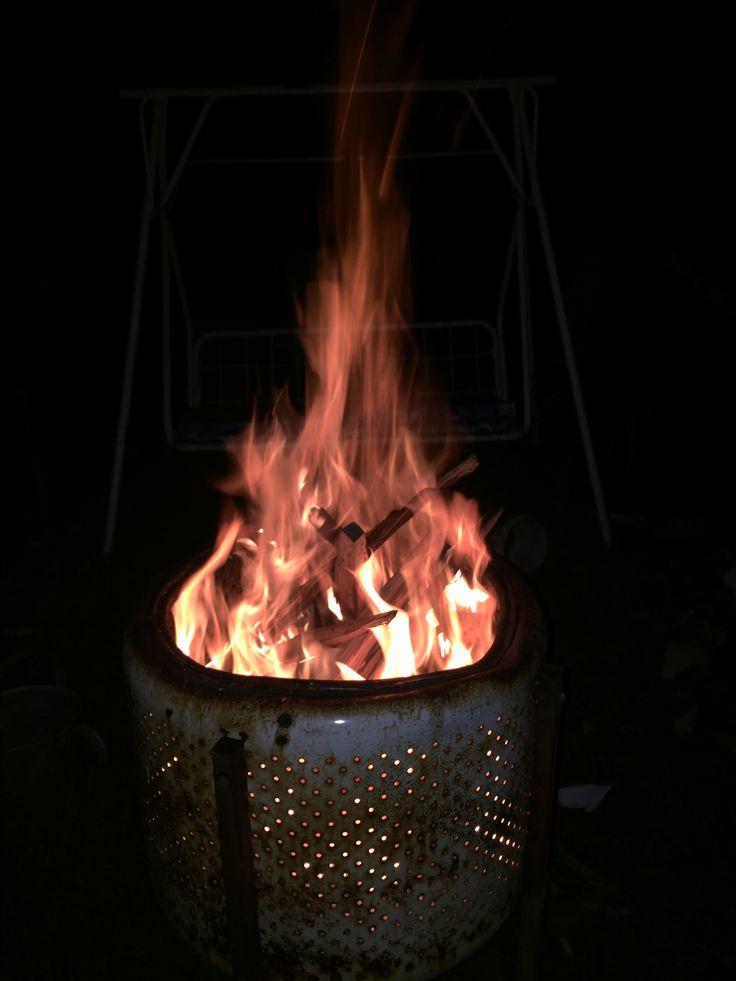 Backyard bin fire 🔥🔥