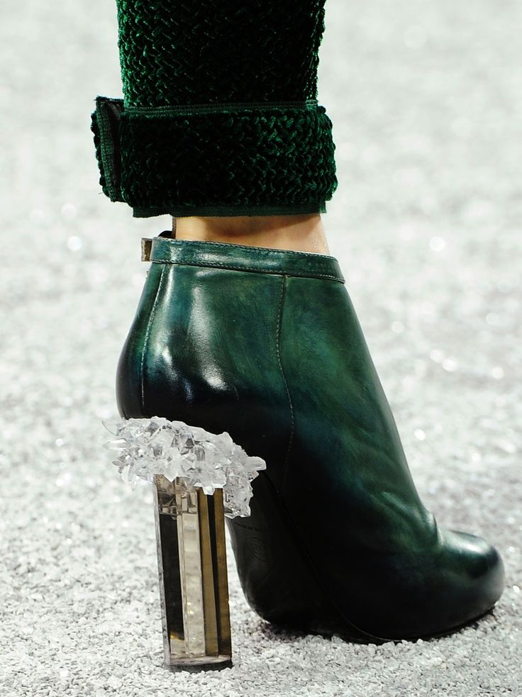 Chanel Fall 2012.13. Not so much on the bootie, but this heel....OMG so me!!!!