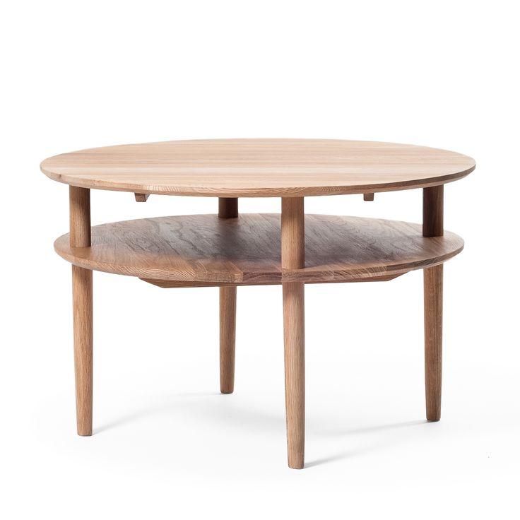 Cross pyöreä sohvapöytä, öljytty tammi ryhmässä Huonekalut / Pöydät / Sohvapöydät @ ROOM21.fi (123777)