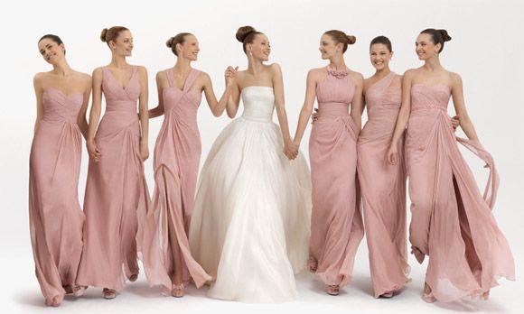 Vestidos para damas de honor: colores y diseños atractivos
