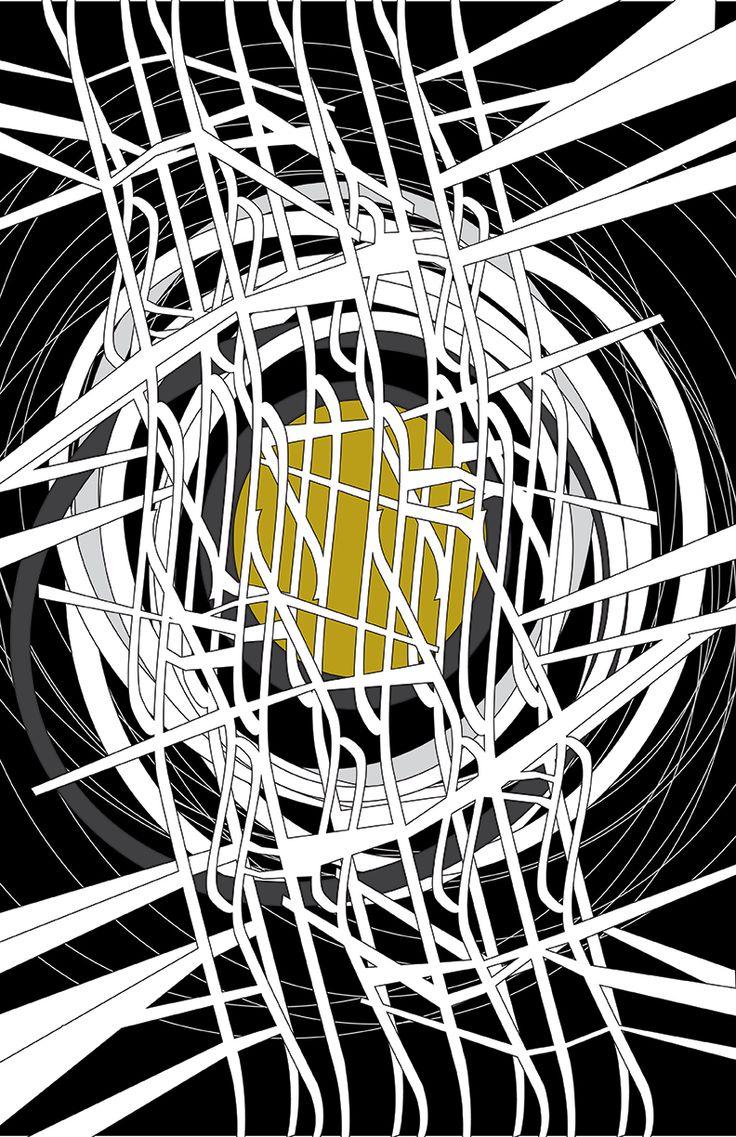bosque 2 (nido). ilustración vectorial