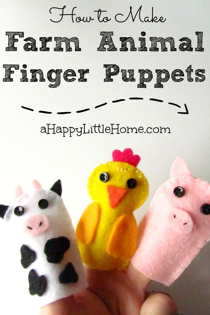 how to make hand puppets out of felt