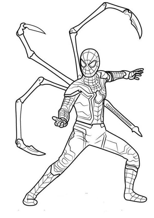 Tom Holland Spiderman Coloring Pages In 2020 Spiderman Coloring Spider Coloring Page Avengers Coloring Pages
