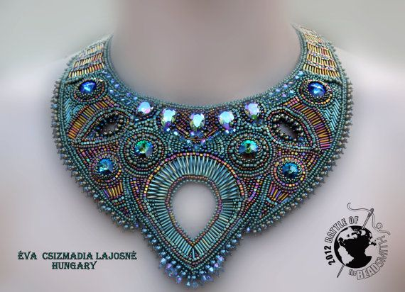 Bead Embroidery Collar by Évi Csizmadia Lajosné, Vicus on Etsy