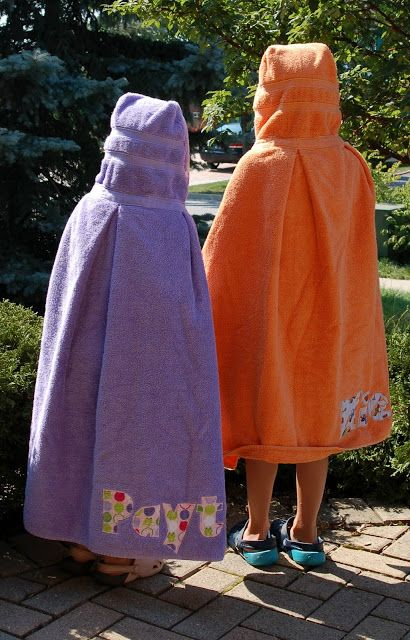 Handmade Hooded Towels- Bubbly Meadow —