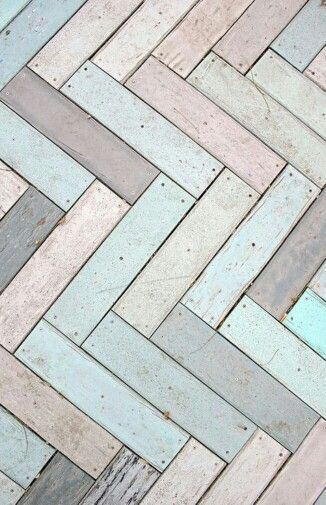 Herringbone floors - natural and pastels