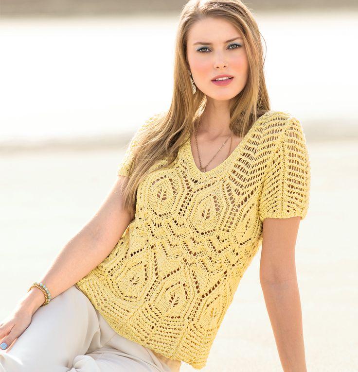 Ажурный пуловер с короткими рукавами. Обсуждение на LiveInternet - Российский Сервис Онлайн-Дневников