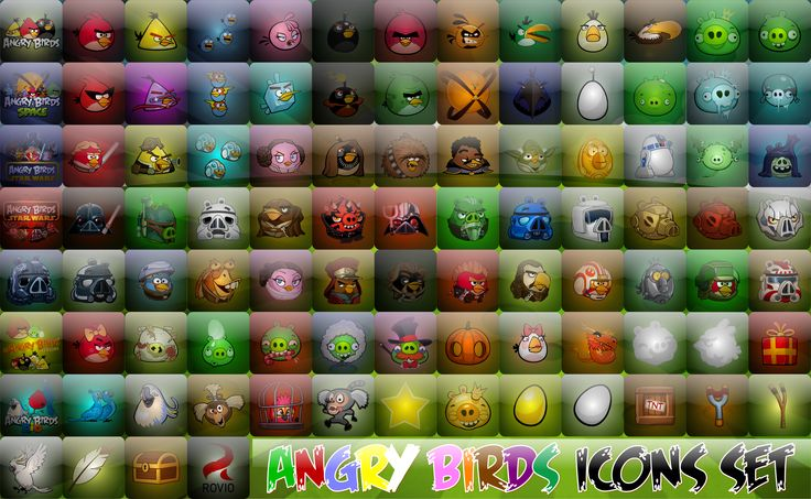 Angry Birds Transparent Icons by xmilek.deviantart.com on @deviantART