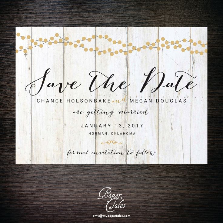 wedding invitations printed on wood%0A Black Gold and White Barn Wood Grain Country Chic Save the Dates  DIGITAL  by PaperTalesCustom