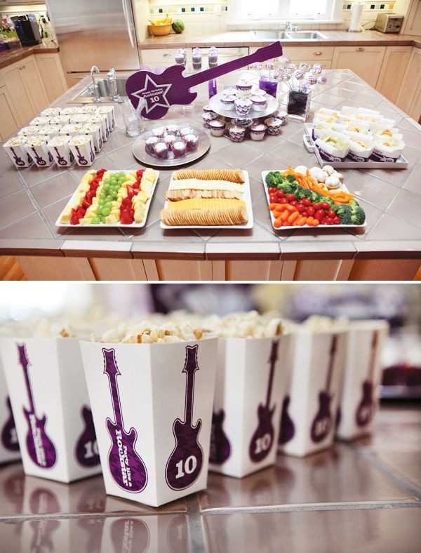 rockstar-party-food - cute-one day when my baby needs a big girl party
