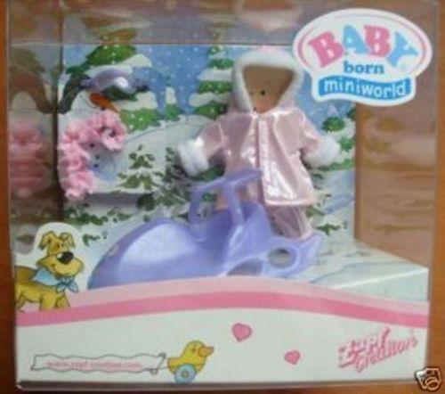 Orig Baby Born Miniworld Lila Schlitten Set | eBay