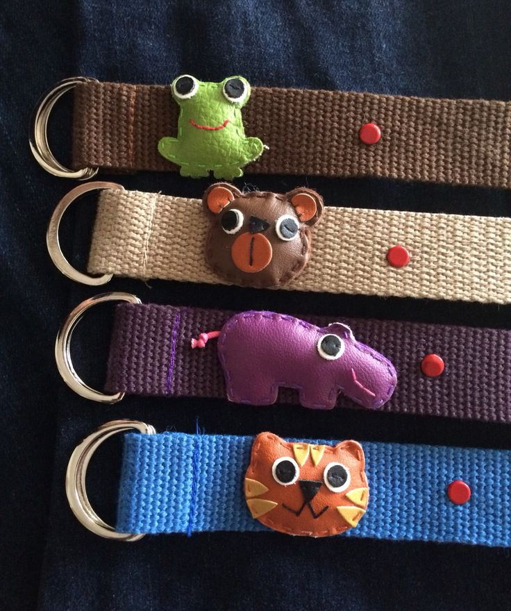 Cute children's belts in fun colors and designs! See www.kalisa.com.au