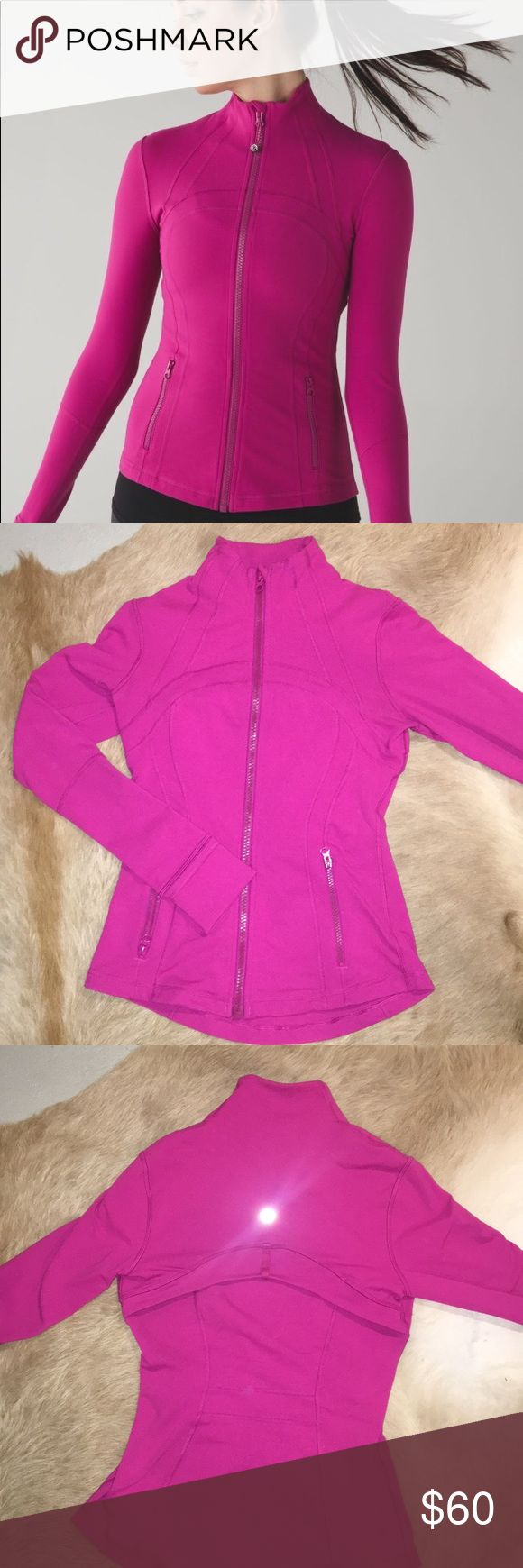 Lululemon Define Jacket in Raspberry Very good condition. Only worn a couple times. Looks and feels new. lululemon athletica Jackets & Coats