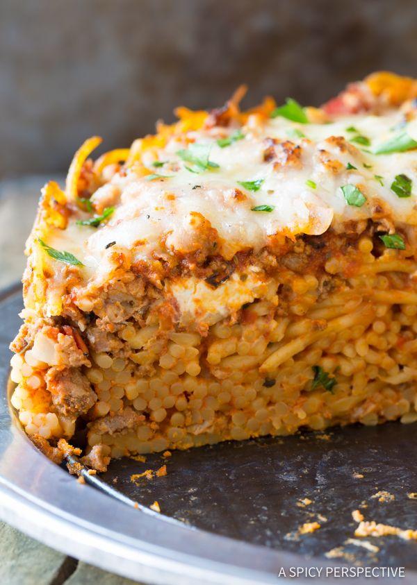 Vegetarian spaghetti pie recipe easy