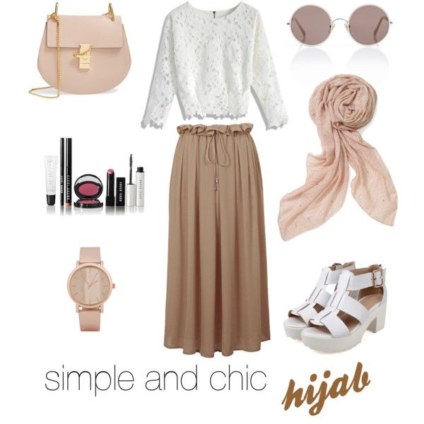 hijab in simple and chic
